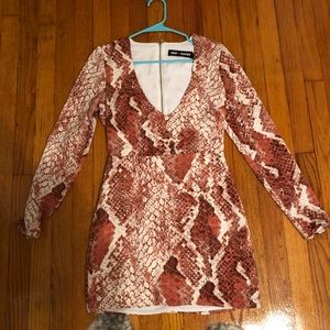 Revolve x NBD snakeskin dress
